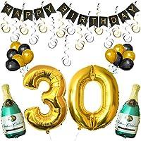 Set 30esimo Compleanno Decorazioni Palloncini Striscione da Kurtzy  Noi di Kurtzy, sappiamo quanto le decorazioni siano importanti per rendere una festa splendida. Questo è il motivo per cui questo set di palloncini e decorazioni è realizzat...