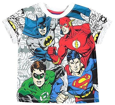 Infant Boys Large Graphic Print Short Sleeve T Shirt Top (7-8 Yrs, DC Comics)