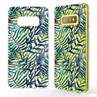 NALIA Pattern Case compatible with Samsung Galaxy S10e, Ultra-Thin Silicone Motif Design Phone Cover Protector Soft Skin, Slim Shockproof Gel Bumper Protective Backcover, Designs:Watercolor Leaves