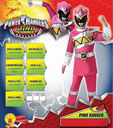 Imagen de disfraz oficial de rubie de los power rangers para niño en color rosa de tamaño mediano alternativa