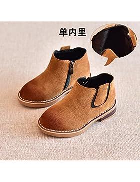 HGTYU-Los niños Martin botas botas marrón Chicos Chicas botas botas cortas y baja la versión coreana de botas...