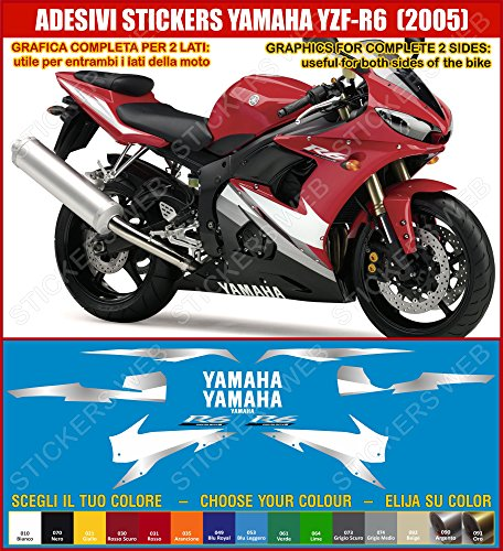 Yamaha YZF R6-Pegatina YZF R6 (2005) sticker kit para modelo 0391 incluye carcasa, diseño de corazón, color