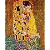 LegendArte P-068 de El beso de. Impresión sobre lienzo. Réplica del carrito carcasa rígida clásica