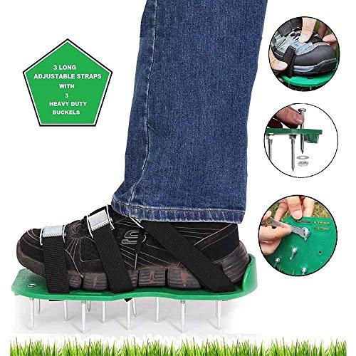 itian-arateur-de-gazon-spike-chaussures-avec-3-sangles-rglables-avec-boucles-mtallique-heavy-duty-po