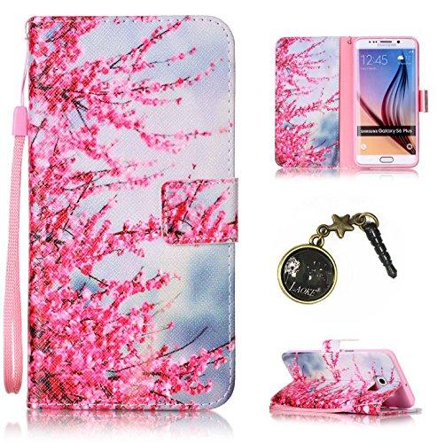Preisvergleich Produktbild für Smartphone Samsung Galaxy S6 Edge Plus Hülle, Klappetui Flip Cover Tasche Leder [Kartenfächer] Schutzhülle Lederbrieftasche Executive Design (+Staubstecker (5OO)