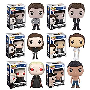 Twilight Jane Volturi Edward Cullen Edward Cullen Tuxedo Vampire Bella Swan Bella Wedding Dress Jacob Shirtless Vinyl Figures Set of 6 by Twilight