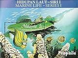 Malaysia Block4 (kompl.Ausg.) 1988 Leben im Meer (Briefmarken für Sammler)