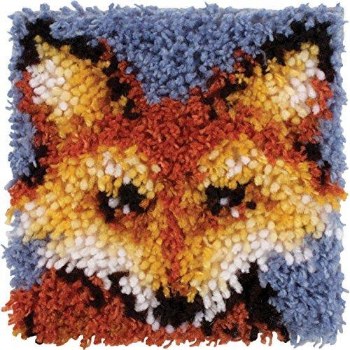 Wonderart Mr. Fox Latch Hook Kit, 8 x 8 by Spinrite