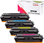 AQINK 4-Pack Compatible 305A 410A CF410A CF411A CF412A CF413A 305X CF410X Toner Cartridge for HP Color LaserJet Pro MFP M477f
