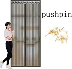 Velcro Magnetische Fliegengitter,Mesh Moskitonetz zum aufhängen Tür Sommer Für Home Schlafzimmer Küche Markt Hohe denisity Abgeschnitten Winddicht-C 70x200cm(28x79inch)