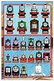 Thomas die kleine Lokomotive & Freunde - Characters TV-Serie Poster - Größe 61x91,5 cm + Wechselrahmen der Marke Shinsuke® Maxi aus Kunststoff weiss - mit Acrylglas-Scheibe.