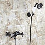 S.TWL.E Küche Küchenarmatur Waschtischarmatur Mischbatterie Spülbecken Armatur Armatur Wasserhahn Bad Black Shower Kit Wall Easy Rain Shower Bathroom Shower Kit Wall Mounted B