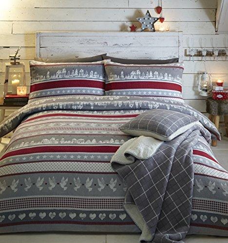 Fusion - Nordic Christmas - 100% Cotton Duvet Cover Set - King, Multicolour