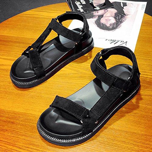 XY&GKSandales femmes montrent l'été All-Match léger chaussures de plage Chaussures de loisirs avec télévision étudiantes Black