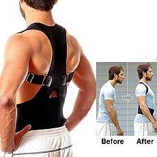 Back Shoulder Support Adjustable Back Brace for Posture Correction Back Pain Support Size XL
