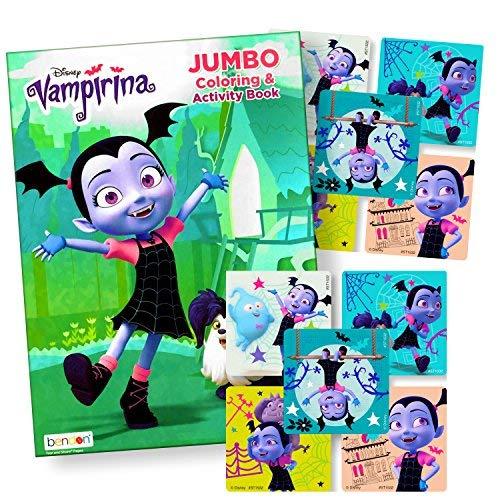 Disney Färben Bücher für Kinder mit Aufkleber-Mickey Maus, Minnie Maus, SEMO2002, black panther und mehr. One size Vampirina