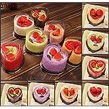 [ Kostenlose Lieferung - 7-12 Tage] Herzform Kuchen Mikrofaser saugfähigen Tuch Festival Valentine Jäten Geschenk Partei Dekor BML® // Heart Shape Cake Microfibre Absorbent Towel Festival Valentine W