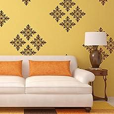 Arhat Stencils Glossy PVC ASR-E155 Damask Wall Stencils