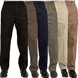 Islander Fashions Mens Rugby Trousers Adult Full Elasticated Waist Casual Wear Smart Pocket Pants 30 Waist/27 Inside Leg Leng