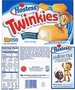 10 Paquets De Génoises Dorées Hostess Twinkies (425g)