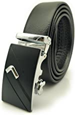 Satyam Kraft PU Leather Adjustable Buckle Belts for Men