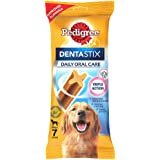 Pedigree Dentastix Large Breed (25 kg+) Oral Care Dog Treat, 270g Weekly Pack (7 Chew Sticks)
