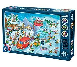 Unbekannt D de Toys 5-Puzzle de Dibujos Animados-Invierno, 1000Unidades