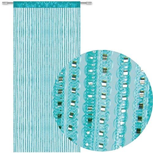 AIZESI Cortina de Cuerda para Puerta con mosca insectos mosquitera mosquitera para puerta divisor o ventana Panel de cortina 99 x 198 cm azul