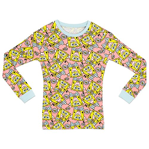 Image of SpongeBob SquarePants Girls Spongebob Squarepants Pyjamas - Snuggle Fit - 9 to 10 Years