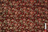 alles-meine.de GmbH 1 m * 1,60 m Stoff Fleece Blumenmotive
