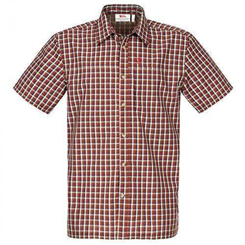 Fjällräven Herren Svante Shirt SS Comfort Hemden & T-Shirts, Deep Red, L