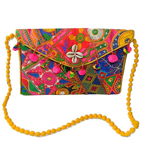 Preisvergleich Produktbild Indische Handtasche orientalisches Muster Baumwolle Stickereien Tasche Accessoire