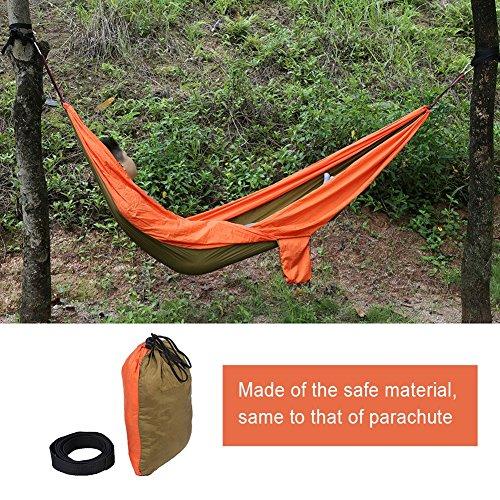 Hamac Double Camping Hamac 2 Places de Jardin 270 * 145cm en Nylon Léger Portable avec Etui de Transport Charge Max. 300kg / 660 lb ( Couleur : Orange )