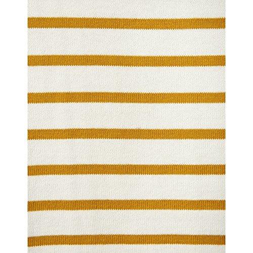 Joules Harbour Jersey Top (V) Caramel Stripe