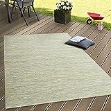 In- & Outdoor Flachgewebe Teppich Terrassen Teppiche Mit Farbverlauf In Grün, Grösse:120x160 cm