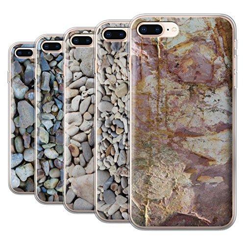 Stuff4 Gel TPU Hülle / Case für Apple iPhone 8 Plus / Muscheln Muster / Stein/Rock Kollektion Pack 15pcs