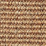 Teppichboden Auslegware | Sisal Naturfaser Schlinge | 400 cm Breite | braun natur | Meterware, verschiedene Größen | Größe: 1 Muster