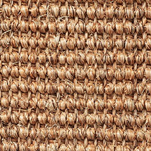 Teppichboden Auslegware | Sisal Naturfaser Schlinge | 400 cm Breite | braun natur | Meterware, verschiedene Größen | Größe: 1 x 4m
