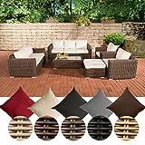 CLP-Salon-de-jardin-MADEIRA-XL-en-poly-rotin-Sofa-3-places-Sofa-2-places-2x-Fauteuils-Tabouret-Table-110-x-60-cm-coussins-inclus-Revtement-crme-Couleur-de-rotin-marron-marbr