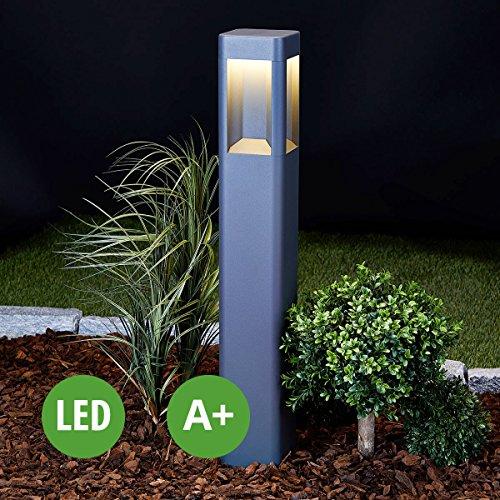 LED Außenleuchte Annika (Modern) in Schwarz aus Aluminium (A+, inkl. Leuchtmittel) von Lampenwelt   Wegeleuchte, Pollerleuchte, Wegelampe, Sockelleuchte