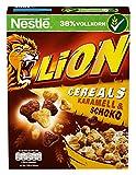 Nestlé Lion Cereals, Karamell und Schoko Cerealien mit Vollkorn, 8er Pack (8 x 400 g)