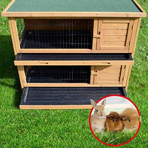 Zooprimus Kaninchenstall 05 Hasenkäfig – HOPPEL – Stall für Außenbereich (für Kleintiere: Hasen, Kaninchen, Meerschweinchen usw.) - 5