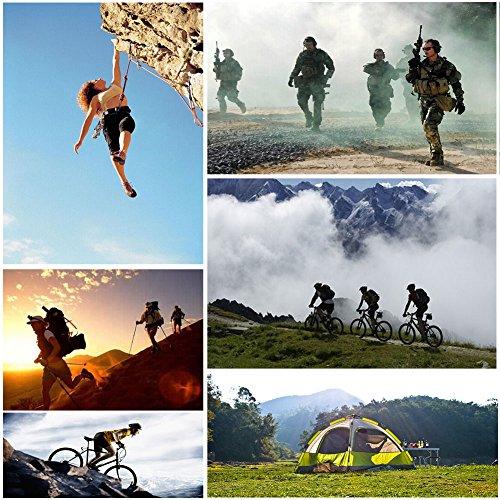 Vbiger Outdoor Sport Fahrradhandschuhe Mountainbike Handschuhe Motorradhandschuhe (Schwarz, XL) - 7