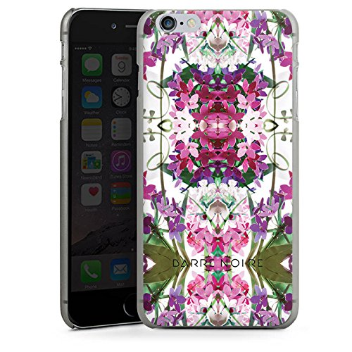 Apple iPhone X Silikon Hülle Case Schutzhülle Blumen Blumenmuster Muster Hard Case anthrazit-klar