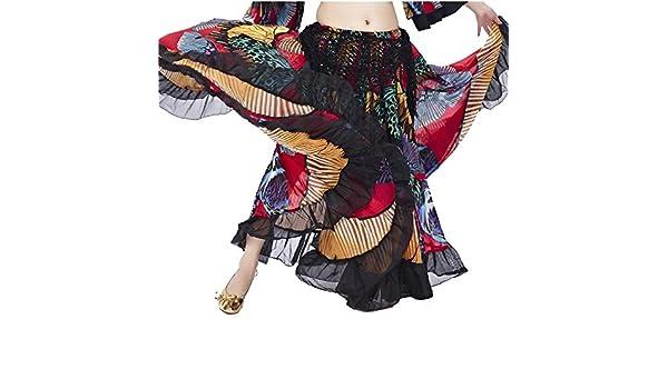 Danzcue Jupe de Danse Flamenco à Motif Papillon coloré pour Femme Grand  Écarlate  Amazon.fr  Sports et Loisirs e83501cb7f7