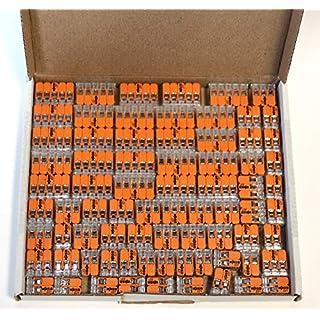 Wago 221 Klemmen SET 25x 221-412, 221-413, 221-415 | Kabel Verbinder in der wiederverschließbaren Box - Original WAGO