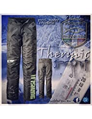 'Hotspot Design Angler Carpfishing–Pantalones térmicos, color negro, Niño hombre, color negro, tamaño XL