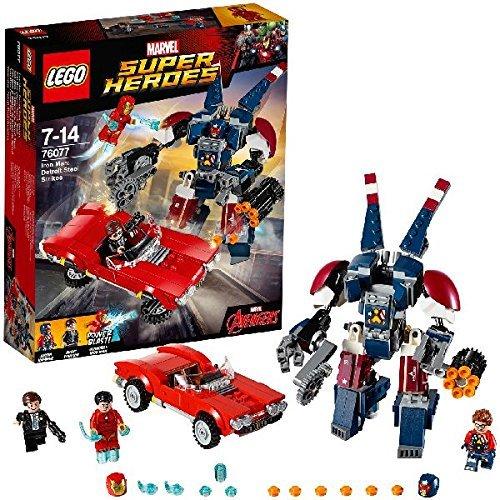 Lego-bösewichte Minifiguren (LEGO Marvel Super Heroes 76077 - Iron Man gegen Detroit Steel, Superhelden-Spielzeug)