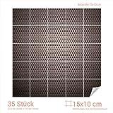 GRAZDesign 768219_15x10_70 Fliesenaufkleber Punkte - Design - Druck für Kacheln | Wand-Deko für Bad/Küchen-Fliesen (Fliesenmaß: 15x10cm (BxH)//Bild: 70x70cm (BxH))