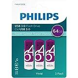 Philips Lot de 3 clés USB 3.0 64 Go - Vivid Edition 64Go